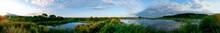 Panoramic View Of A Calm Lake ...