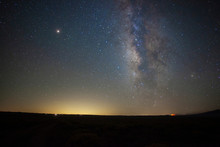 Milky Way Stars Above A Vast P...