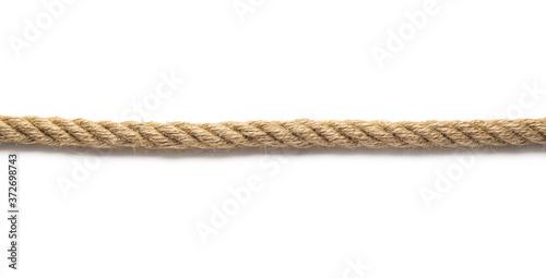 Long rope on white background Fototapet