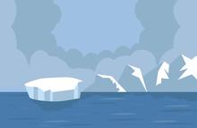 North Pole Arctic Landscape In...