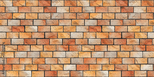 brick stone wall banner background seamless texture Canvas Print