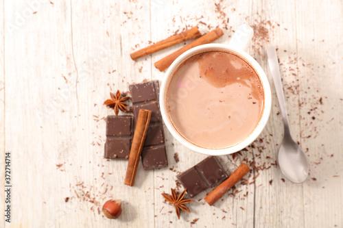 Canvas Print cappuccino- milk, cocoa and spices