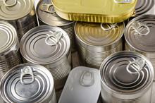 Set Of Various Canned Foods In...