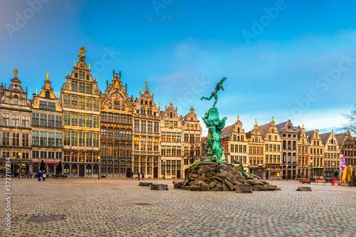 Antwerp, Belgium Cityscape Canvas Print