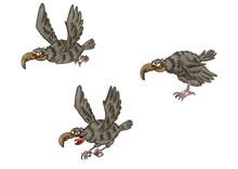 Cartoon Eagle. A Set Of Eagles...