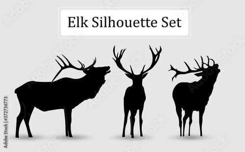 Canvas deer silhouette vector illustration