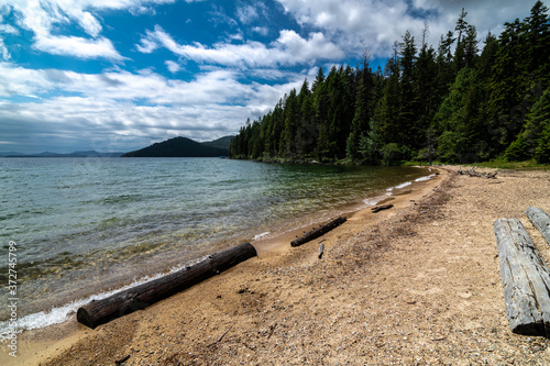 Canvas Print Upper West End of Priest Lake, Idaho, Close to Tule Bay
