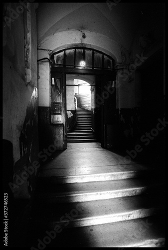 Fototapeta Entrance to the old house