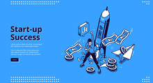 Startup Success Banner. Concep...