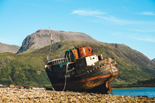 Old Fishing Boat With Ben Nevi...