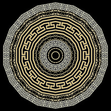 Greek Round Mandala Pattern. V...