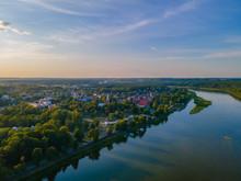 Aerial View Of Birstonas City ...