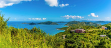 A View From Ridge Road Towards The Islands Of Guana, Great Camanoe And Scrub From The Main Island Of Tortola