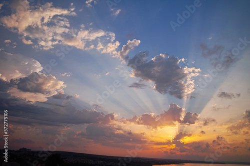 Fototapeta clouds and sky at sunrise obraz