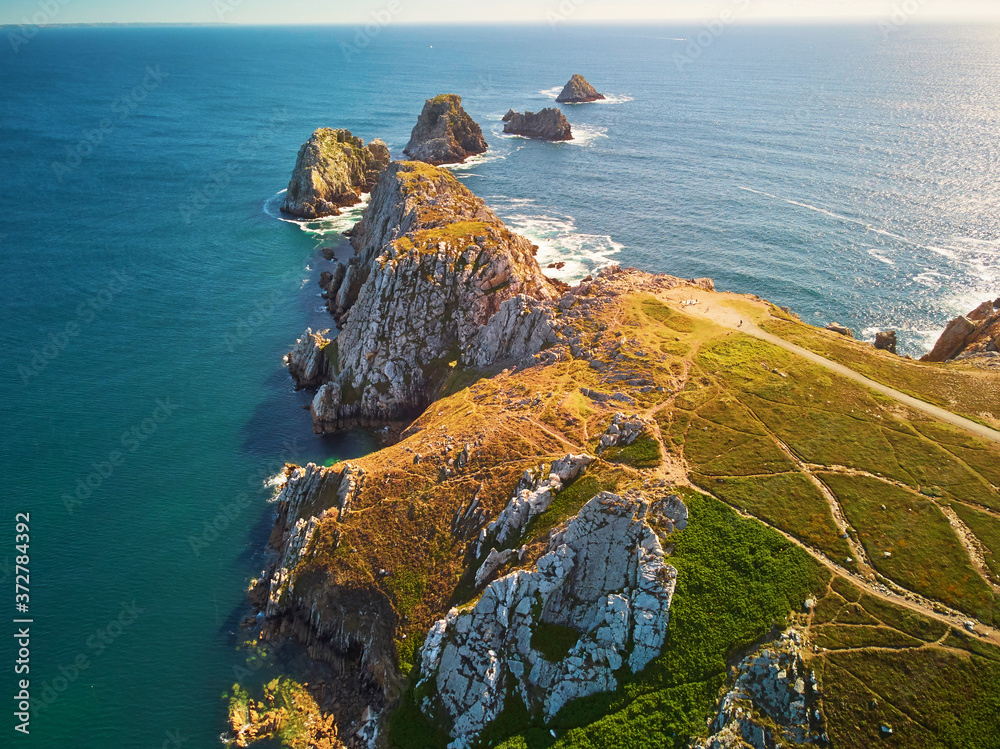 Fototapeta Scenic view of Crozon peninsula, one of the most popular tourist destinations in Brittany, France