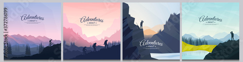 Fototapeta Vector brochure cards set