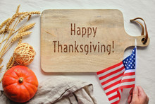 Text Happy Thanksgiving On Cut...