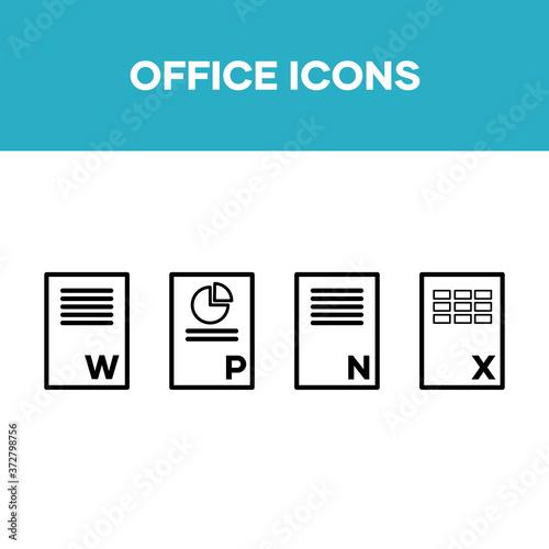 Платно Office icon set, document office icon, button, symbol, sign