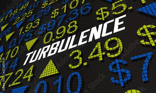 Turbulence Stock Market Ups Downs Economic Volatility 3d Illustration Canvas Print