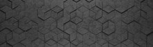 Black Rhombus And Hexagons 3D ...