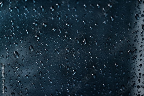 rain drops on window Fototapet