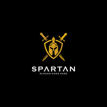 Spartan Logo And Vector Design Helmet And Head