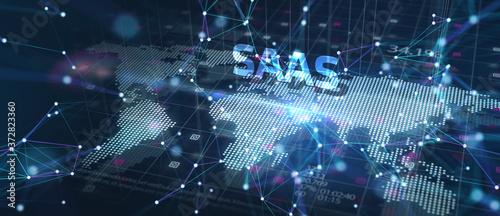 Fotografie, Obraz Software as a Service SaaS