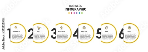 Cuadros en Lienzo Infographic design with icons and 5 options or steps