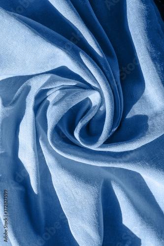 Obraz na plátně Texture of light blue cotton draped fabric
