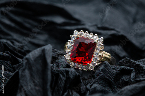 Obraz na plátne Red Ruby Ring