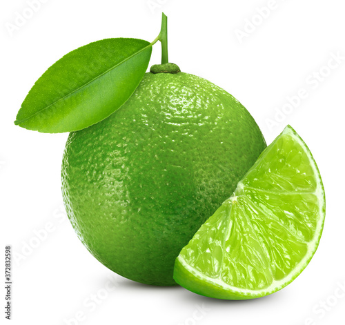 Organic lime with leaf