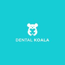 Abstract Koala Logo. Dental Icon
