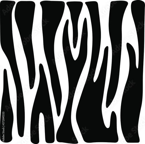 Slika na platnu Vector animal pattern. Zebra texture