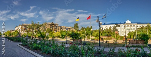 Photo Azov avenue in Berdyansk, Ukraine