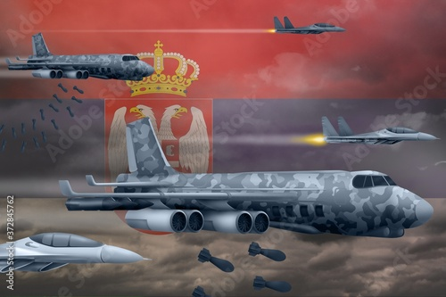 Papel de parede Serbia air forces bombing strike concept