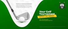 Invitation Template For Golf Tournament With Ball And Stick