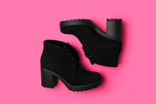 Stylish Black Female Boots On ...