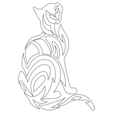 Cat Antistress Coloring Page O...