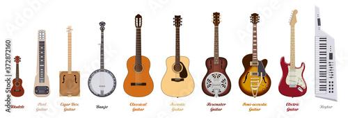 Fotografia, Obraz Guitar set