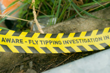 Fly Tipping Investigation Tape