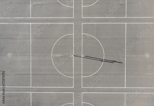 Netball Court Top Down aerial view Fototapet