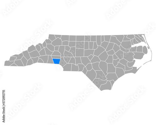 Photographie Karte von Gaston in North Carolina