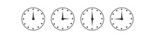 Clocks Time Icons Set.Vector