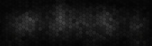 Panoramic Texture Of Black And...