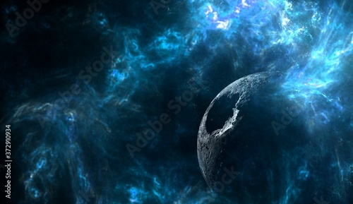 Foto Planets and galaxy, science fiction wallpaper