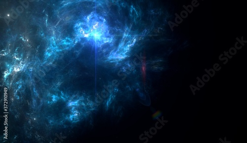 Planets and galaxy, science fiction wallpaper Fototapet