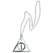 Metal Chain With The Sign Of The Deathly Hallows. Vector Illustration
