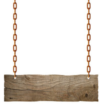Wooden Sign Chain Ropesignboard Signpost