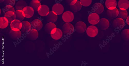 Obraz shiny purple red bokeh banner with text space - fototapety do salonu