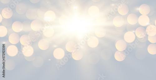 Obraz glowing white bokeh light effect background design - fototapety do salonu
